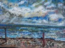 Grado panorama's n.27,oil  and acrilyc on canvas,cm.192 x 117,2014