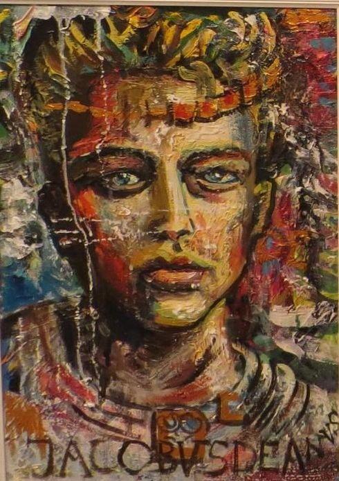 James,oil and acrilyc on canvas,40 x 60 cm,2011