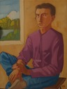 Mr Francesco B(the Judging Boy)1990,60 x 80 cm,oil on canvas. copy