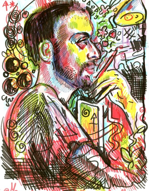 Portrait of the rapper Tubet