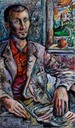 Portrait of Elio C.,sept.2009,60 x 100 cm,oil on canvas