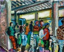 Stazione 2 waiting.Oil on canvas,cm.50 x 40,2011 copy